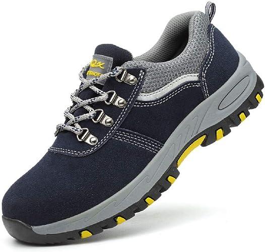 Ansel-UK Hombre Zapatillas de Seguridad con Punta de Acero ...