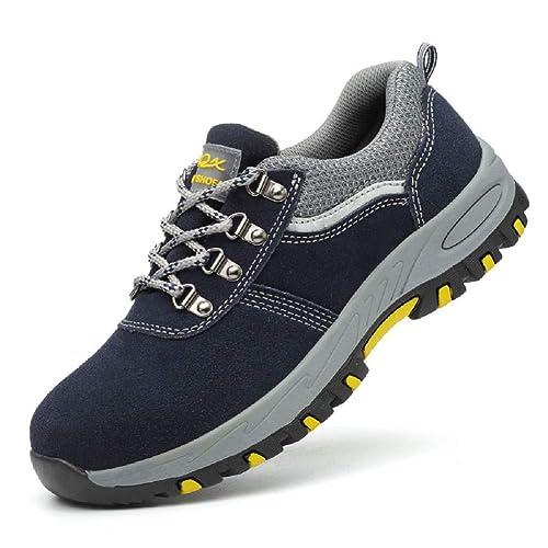 Aizeroth-UK Uomo Donna S3 Scarpe da Lavoro Comodissime Traspiranti Scarpe  antinfortunistiche con Punta in 042a4034631