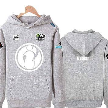 RNGDJSBP Sudadera Ig Team Jacket Plus Uniforme de Terciopelo Hombres y Mujeres Lpl2018 Ropa de competición LOL Sudadera con Capucha Suéter de Estudiante, S, ...
