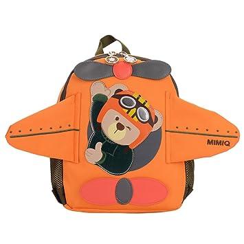 Kukul Mochilas infantiles Patrón de avión Mochila Bebé Bolsa para la escuela 29cm*24cm*11.5cm (Naranja): Amazon.es: Equipaje