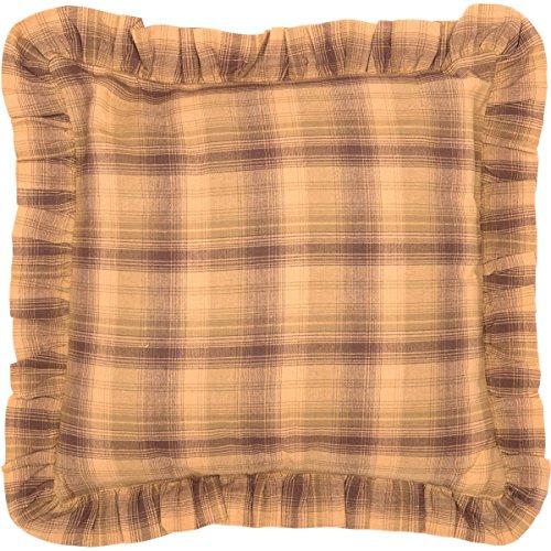VHC Brands Rustic & Lodge Pillows & Throws - Prescott Tan Ruffled Fabric 16