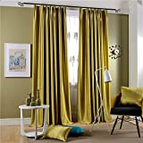 "Leyden Pleated Top Classic Solid Chartreuse Bright Velvet Curtains Curtain Drapes - 42Wx63""L (One Panel)"