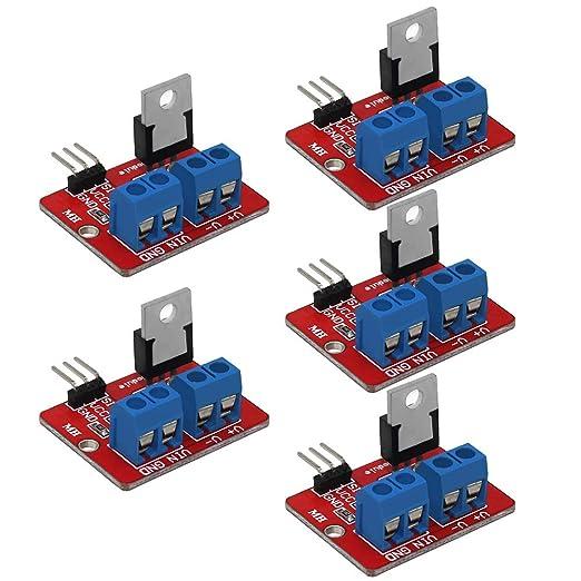 Innovateking-EU 10 st/ücke IRF520 MOSFET /Überlegene Treibermodul PWM Ausgang 0-24 V 5A f/ür Arduino MCU ARM Raspberry Pi