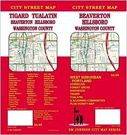 Beaverton, Oregon / Hillsboro / Washington County Street Map GMJ: GM ...
