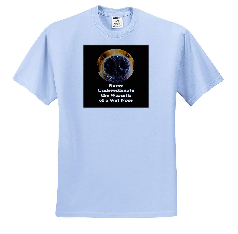 3dRose Sandy Mertens Dog Designs Wet Nose Dog with Inspirational and Funny Slogan 3drsmm T-Shirts
