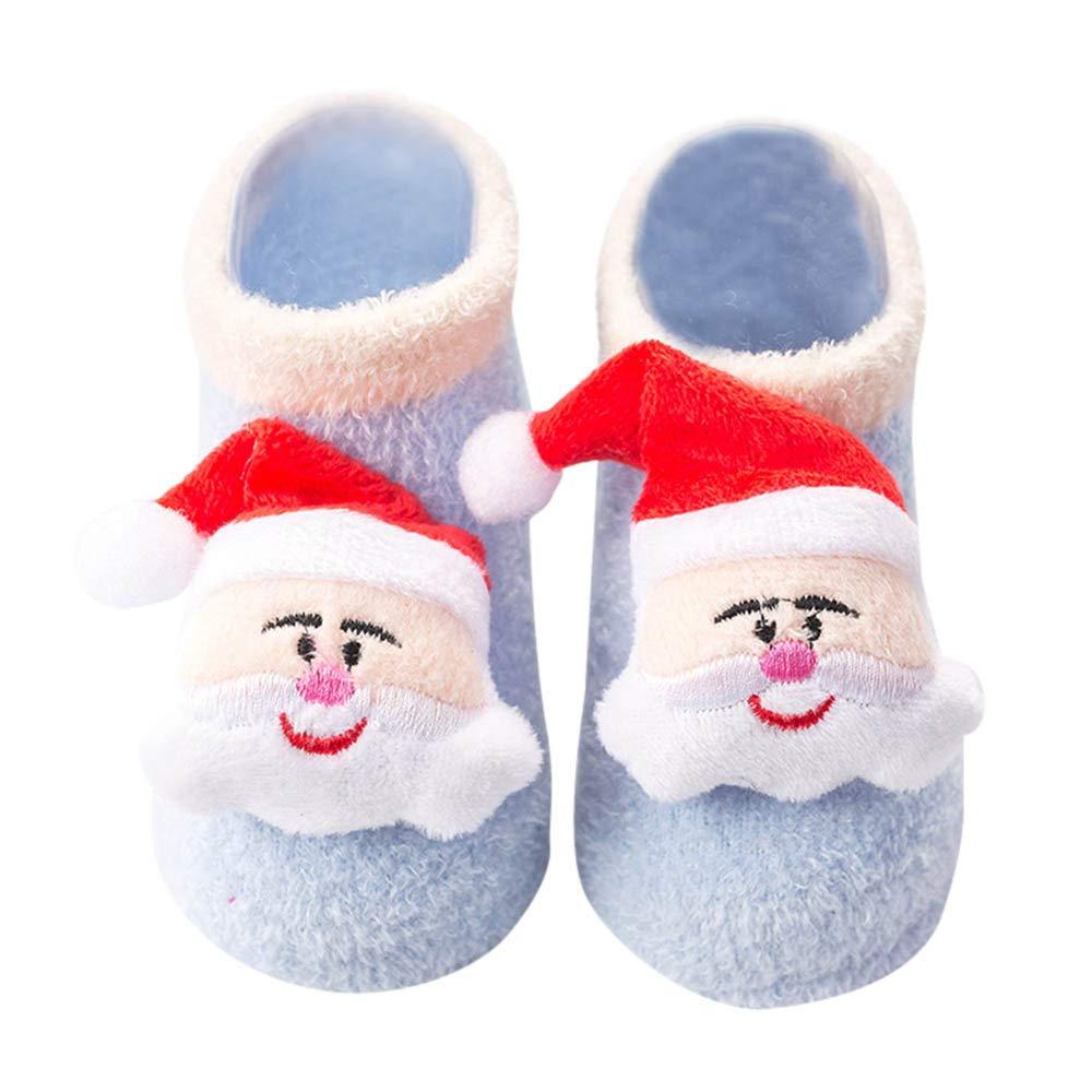 Zolimx Buon Natale, Calzini Neonato Calzini Antiscivolo Bambino Motivi Fantasia Antiscivolo per Bambini E Neonati yoyo
