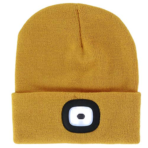 6fdfa4f436e7 DM Merchandising Inc. Night Scout Rechargeable Led Beanie (Mustard)