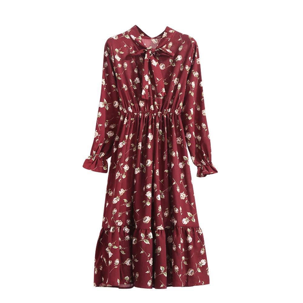 Lowprofile Chiffon Dress with Bow Tie Women Loose Bell Sleeve Lightwight Vintage Boho Midi Dress Lowprofile Fashion Dress