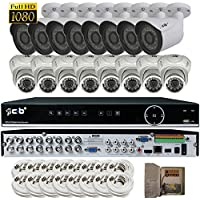 CIB Hybrid HD-TV/AHD/IP/960H 16CH 1920TVL 1080P ,Plus 8CH 4MP IP Input, DVR security system, w/ 2TB HDD,HDMI 4K/1080P Output,16x2.1Megapixel Vandal Bullet Dome Color Cameras -THZ80P16K2T56W-03W-16KIT
