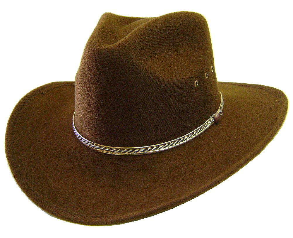 Modestone Aussie Faux Felt Cowboy Hat Brown ''Some Sizes For Small Heads'' 9585-S