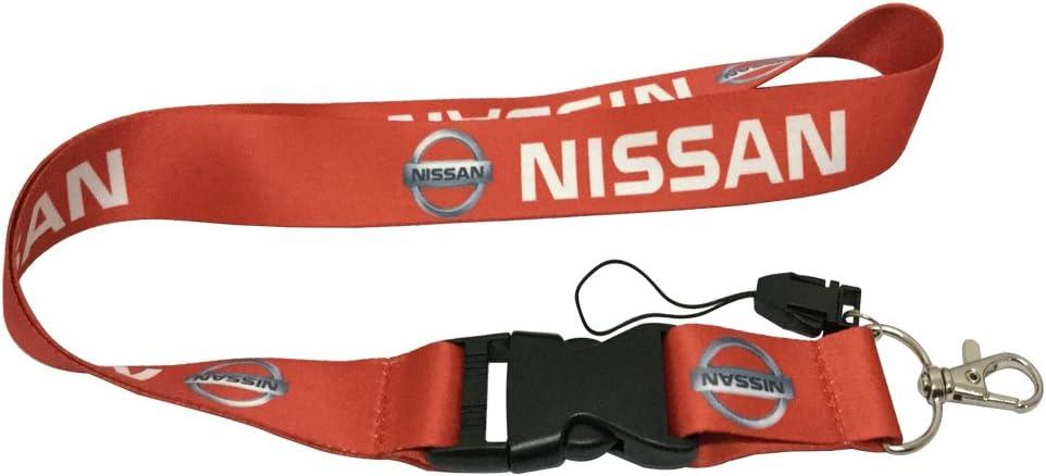 Coloryard 1pcs Red Color USA Ship New Quick Release Neck Strap Lanyard Keychain Keyring Car Keys House Keys ID Badges Card For Nissan Design