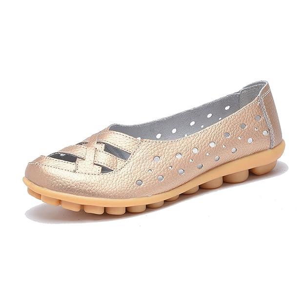 Moonwalker Mocasines de Cuero Mujer Verano 2017 Nuevo Modelo: Amazon.es: Zapatos y complementos