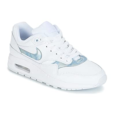 Nike Filles Air Max 1 Groundschool Weiss Blau Sneaker Low Amazon