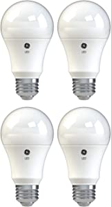 GE Lighting 36993 Basic LED (60-Watt Replacement), 750-Lumen A19 Bulb, Medium Base, Soft White, 4-Pack, Title 20 Compliant