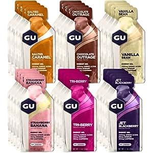 GU Energy Original Sports Nutrition Energy Gel, Assorted Flavors, 24-Count