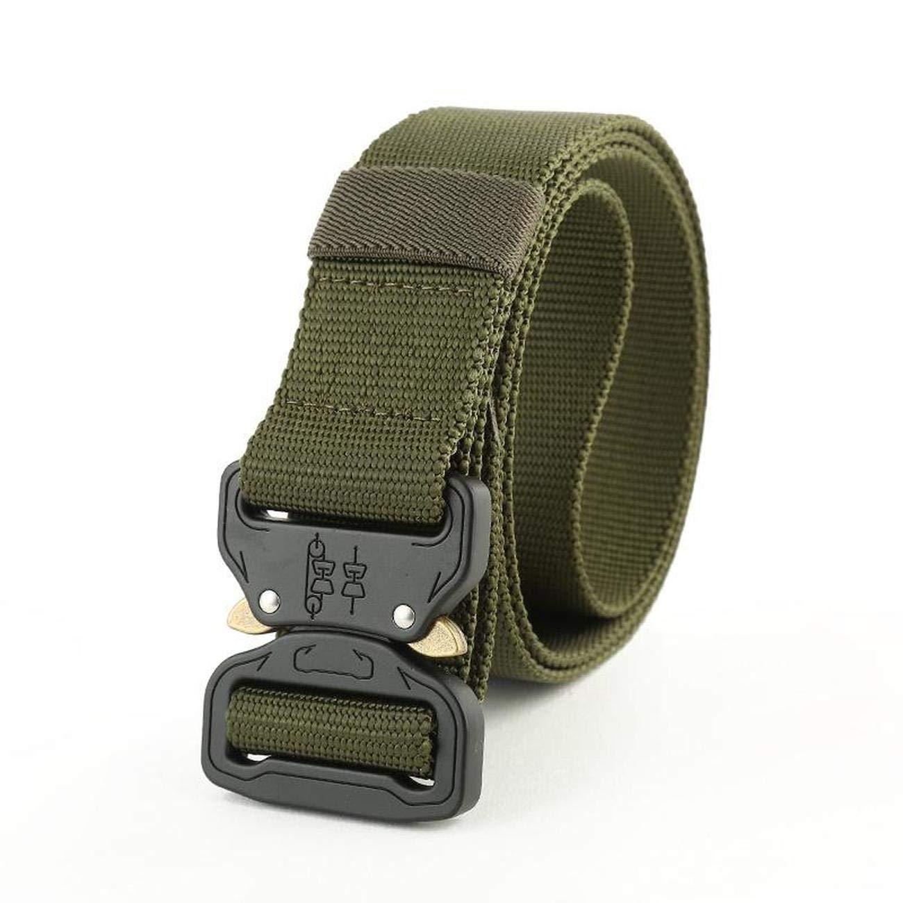 Nethaniah Fashion Belt Outdoor Hiking Military Nylon Buckle Mens