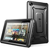 Fire 7 Case, SUPCASE [Heavy Duty] Case for 2015 Release Amazon Fire 7 Tablet 5th Generation [Unicorn Beetle PRO Series] Rugged Hybrid Protective Cover w Builtin Screen Protector (Black/Black)