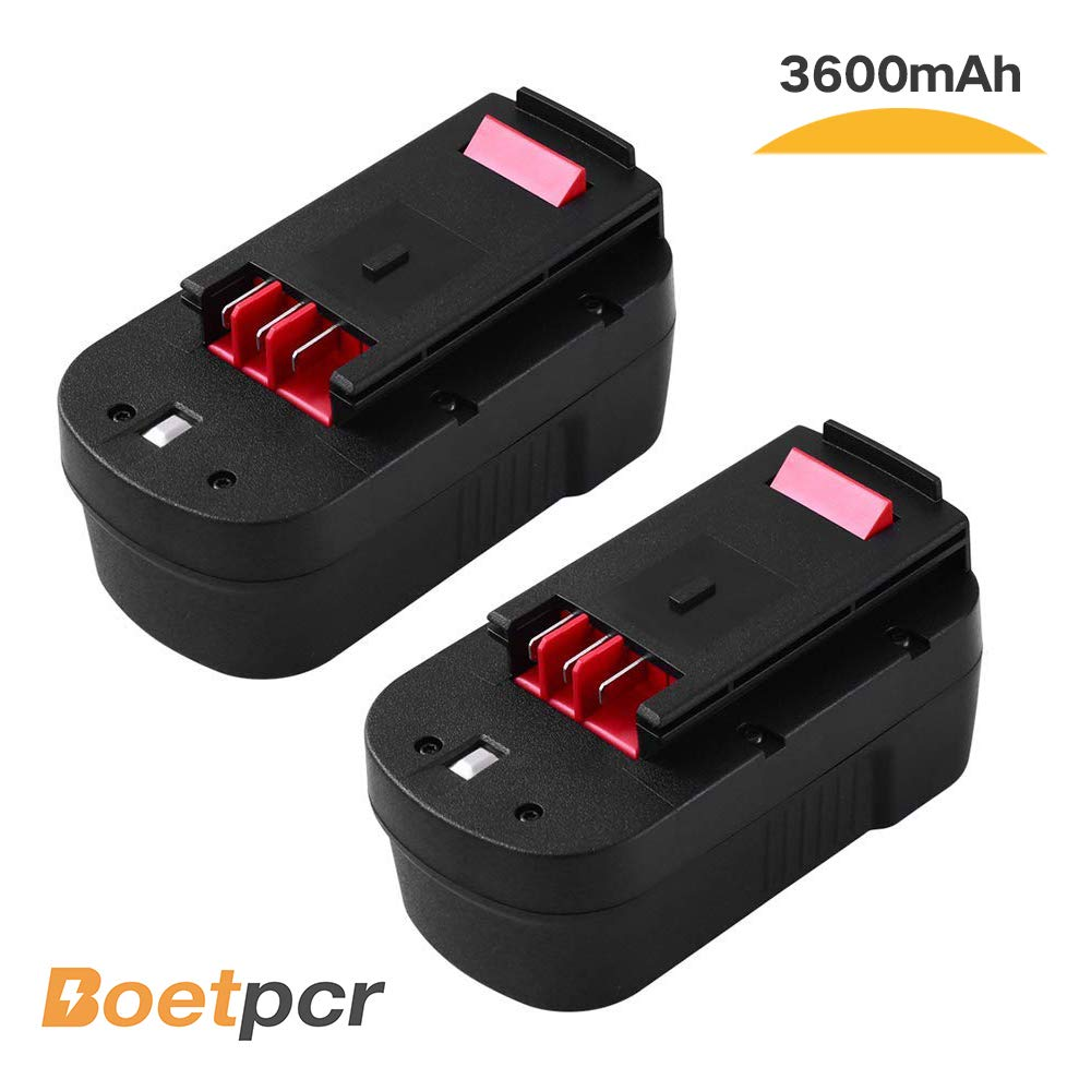 HPB18 3.6Ah Ni-Mh Replace for Black and Decker 18V Battery HPB18-OPE 244760-00 A1718 FS18FL FSB18 Firestorm Cordless Power Tools (2 Pack)