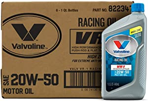 Valvoline VR1 Racing SAE 20W-50 Motor Oil 1 QT, Case of 6