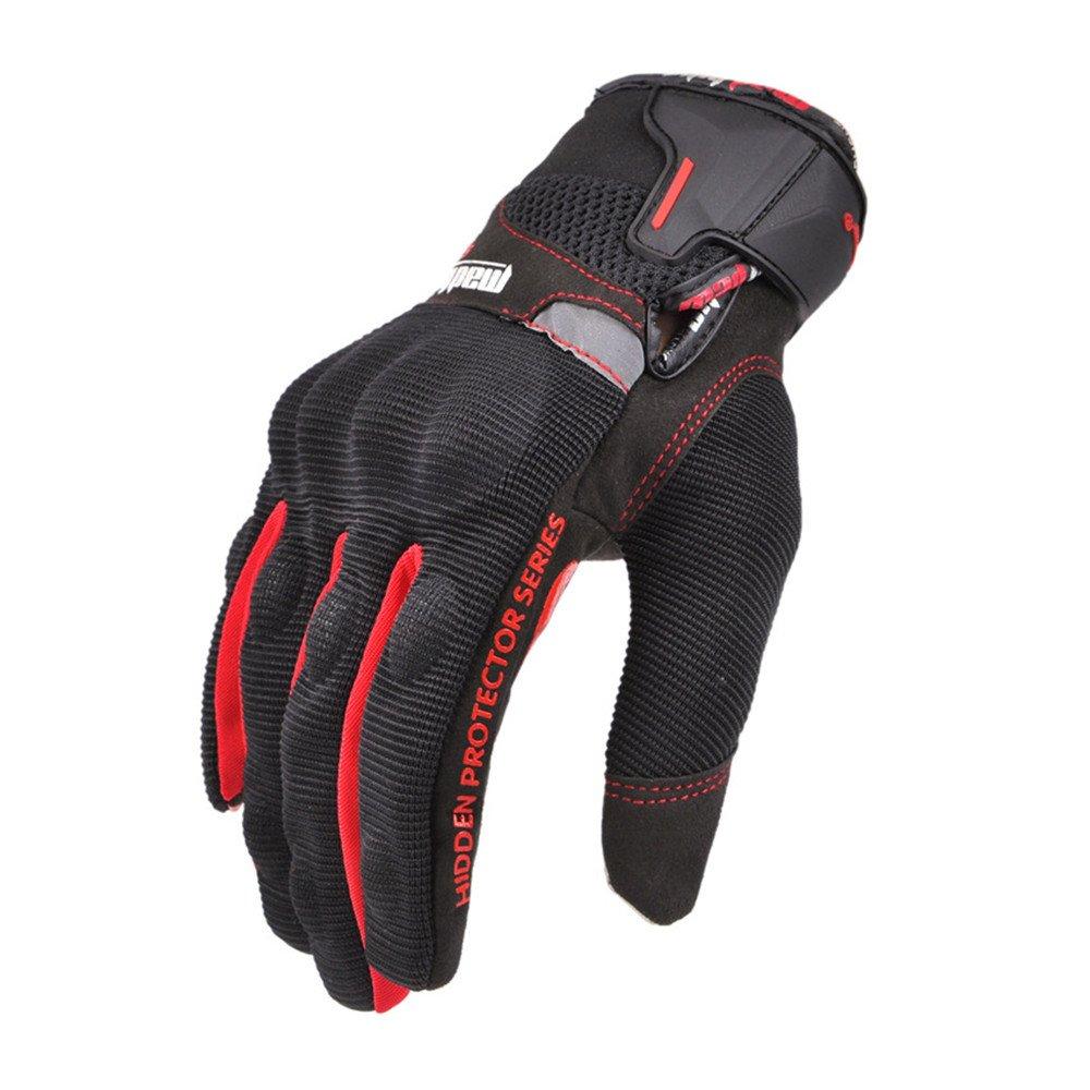 QARYYQ Vollfinger-Touchscreen-Handschuhe Motorradhandschuhe Skireiten-Trekkinghandschuhe, Rot Handschuh (größe   XL)