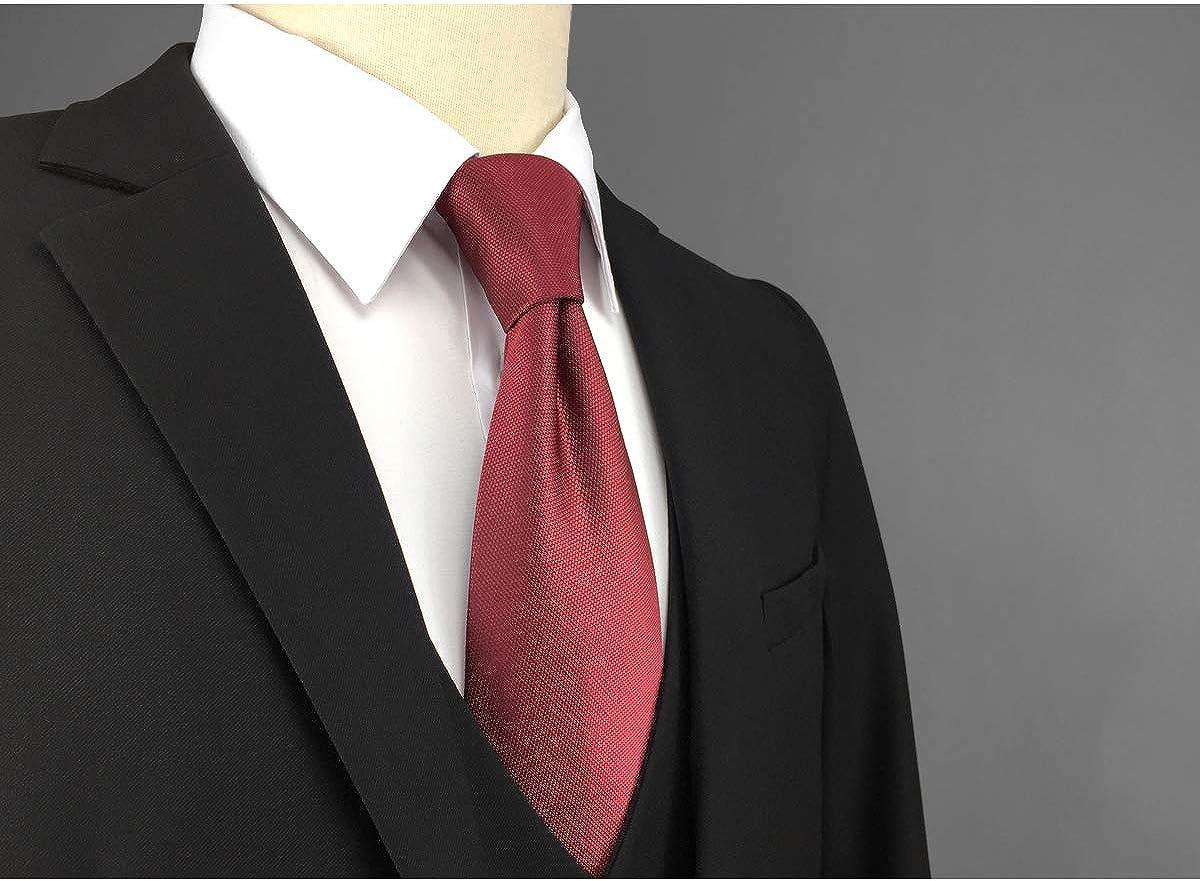 shlax/&wing Couleur Unie Rouge Burgundy Mariage Homme Cravate Classic Fashion 147cm