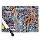 KESS InHouse Victoria Krupp ''Italian Tiles'' Blue Multicolor Digital Cutting Board, 11.5'' x 8.25'', Multicolor