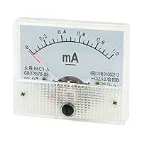 64mm x 56mm rechteckig DC 0–1mA Analog Panel Meter Amperemeter 85C1Analog Current Panel Meter
