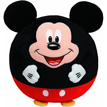 Ty Beanie Ballz Mickey Mouse Plush, Medium