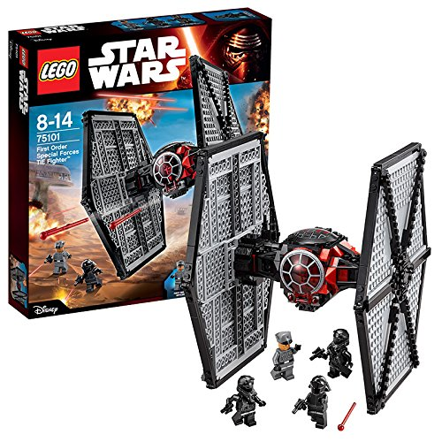 LEGO Star Wars – Pack de 4 minifiguras 2 First Order TIE Fighter Pilots, First Order Officer, First Order Crew (75101)