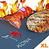 Kona XL Best Grill Mat & Oven Liner – BBQ Grill Mat Covers The Entire Grill & Oven Bottom – Premium Non-Stick 25″x17″
