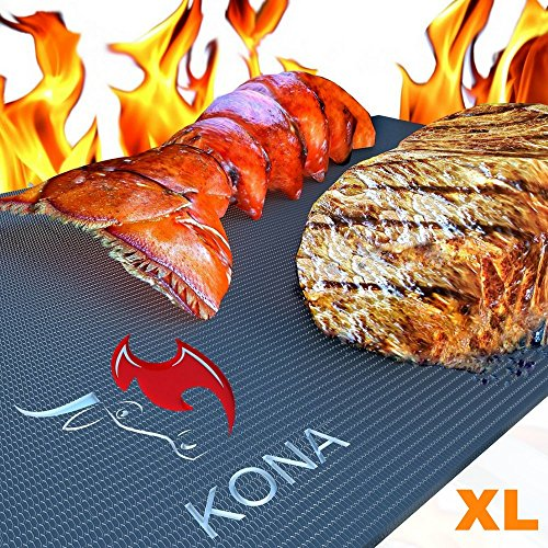 Kona Accessories (Kona XL Best Grill Mat & Oven Liner - BBQ Grill Mat Covers The Entire Grill & Oven Bottom - Premium Non-Stick 25