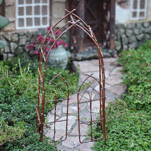 Rustic Arbor - Miniature Fairy Garden Willow Arbor, Rustic
