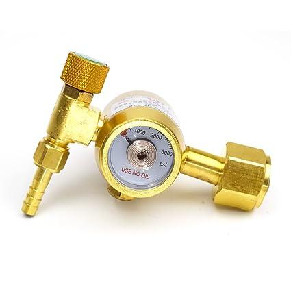 """Latón Argon Regulador Gas medidor de presión G5/8 – 14 """"rosca interior"""