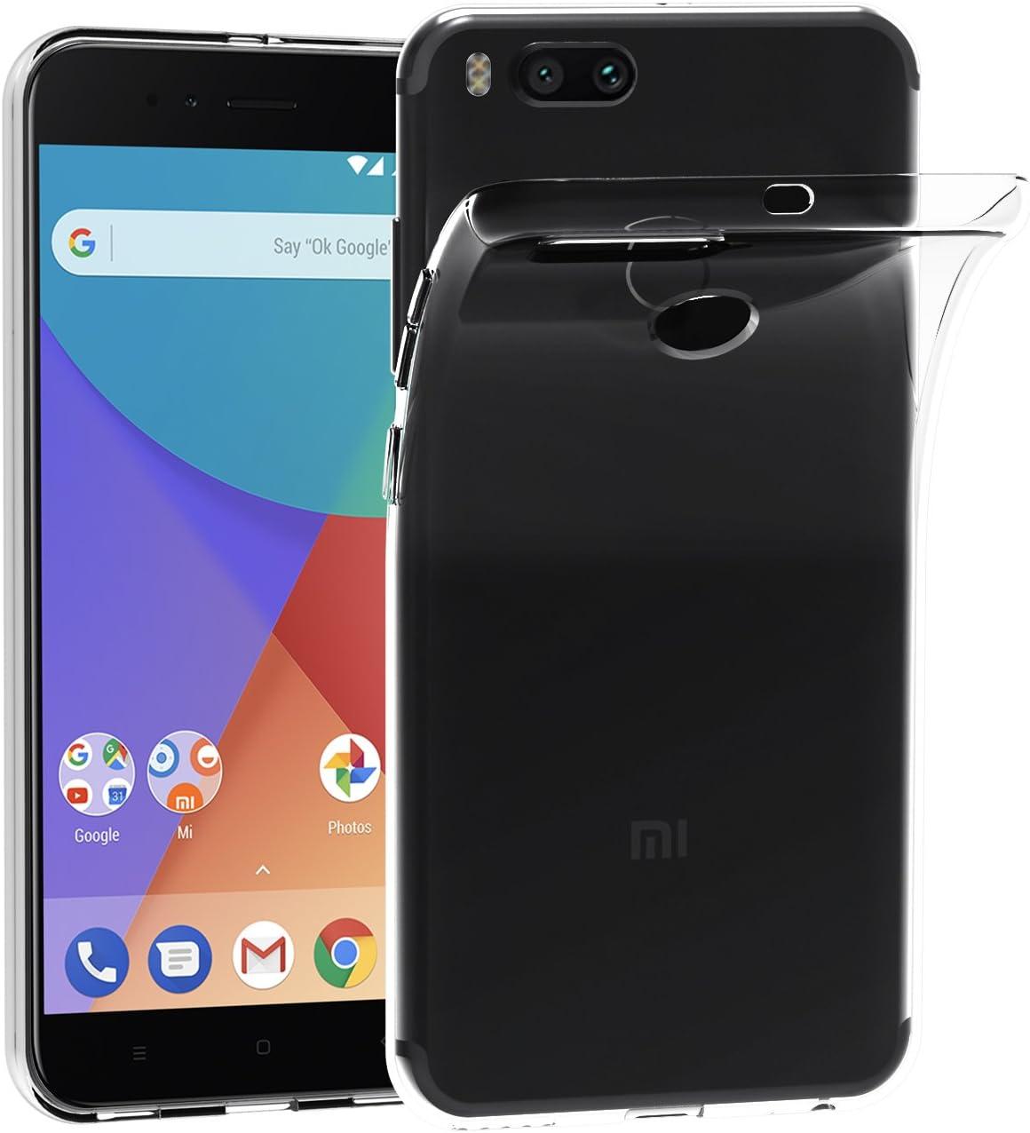 Funda Xiaomi Mi A1 / Xiaomi Mi 5X, iVoler Slim Funda Carcasa Case Bumper con Absorción de Impactos y Anti-Arañazos Espalda Case Cover para Xiaomi Mi 5X / Xiaomi Mi A1 - Transparente