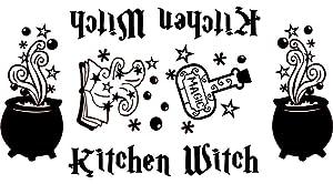 Kitchen Witch Vinyl Decal Sticker for Kitchen Mixers