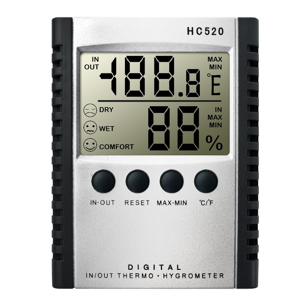 DLAND Weather Thermometers, Indoor and Outdoor Temperature Humidity Thermometer Digital Hygrometer Wall Mount Monitor Sensor Thermostat for Home,Office