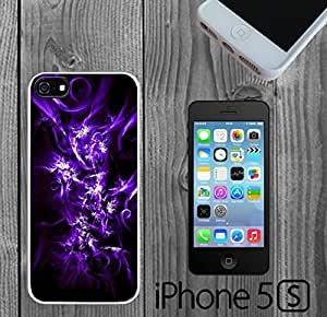 Abstract Purple Flowers Custom made Case/Cover/skin FOR iPhone 5/5s