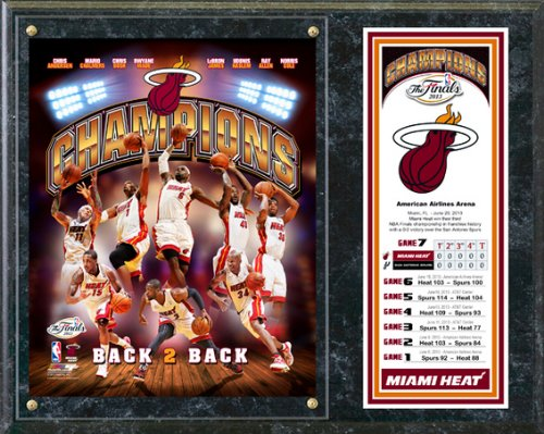 Miami Heat 2013 NBA Champions Team Composite Photo Plaque 12x15