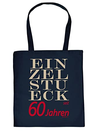 Fun Shopping Bag Unique Fabric For 60 Years 60th Birthday Gift