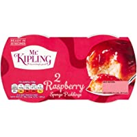 Mr Kipling Sponge Pudding Raspberry - Pack of 4 (3.35 oz x 2)