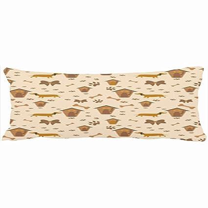 Fundas de almohada decorativas para el cuerpo, diseño de gato hipster sin costuras, para