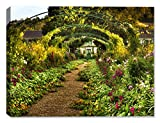 Jardin de Monet (Monet's Garden)-Outdoor Wall Art - Weatherprint - Weatherproof Art for Indoor or Outdoor Canvas Art