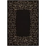 Cheap Safavieh Courtyard Collection CY5139D Black and Beige Indoor/Outdoor Area Rug (8′ x 11′)