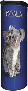 Tree-Free Greetings Barista Tumbler Vacuum Insulated, Stainless Steel Travel Coffee Mug/Cup, 17 Ounce, Koala Bears
