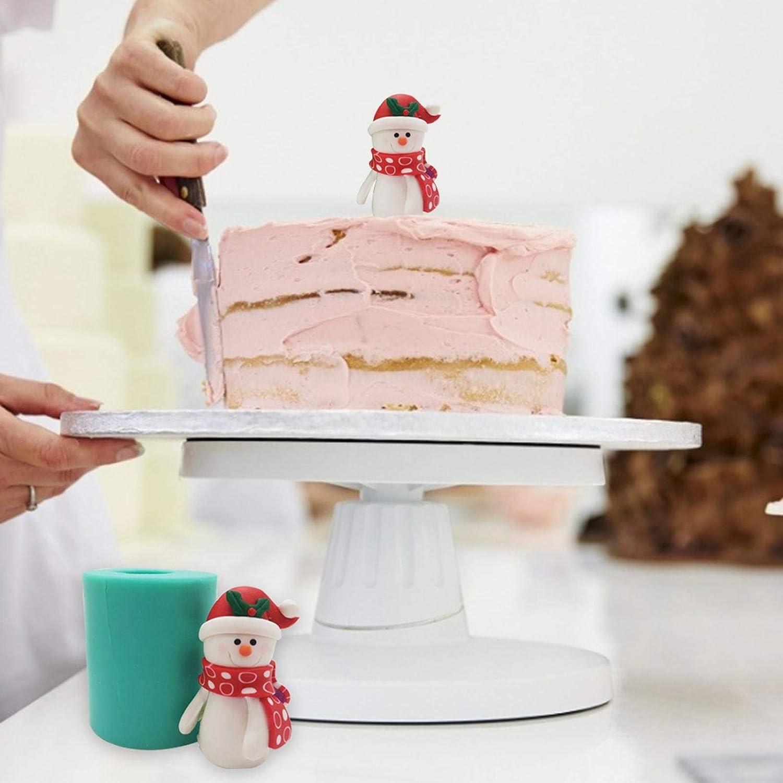 Para Decoraci/ón De Pasteles De Navidad Resina De Molde Artesanal De Arcilla De Navidad Manualidades De Estatuillas De Bricolaje Molde De Silicona De Mu/ñeco De Nieve 3D Molde De Vela De Navidad
