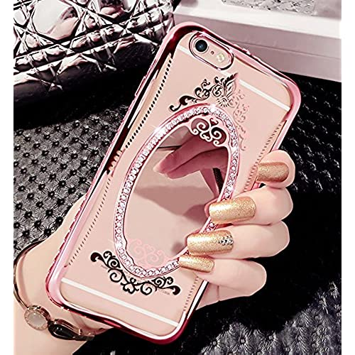 3f0be9a2a4 iPhone 6 Plus Case, iPhone 6s Plus Case, Beauty Makeup Mirror Case Crystal  Rhinestone
