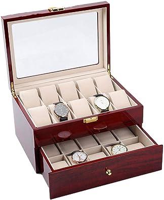 FIONAT Caja para Relojes Cajas para Joyas Hombre Mujer Regalo ...