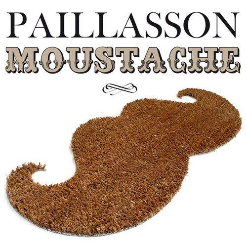 Thabto Mustache Door Mat - Quality Natural Coir Door Mat -...