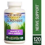 Host Defense - Lion's Mane Capsules, Mushroom Support for Memory & Nerves, 120 Count (FFP)