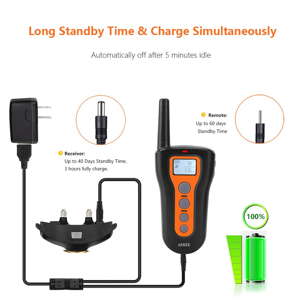 Dog Training Collars for 2 Dogs, Rechargeable and Waterproof 330 yd Remote Dog Shock Collar with Beep, Vibra and Shock Electronic Collar for Puppy, Small, Medium and Large Dogs, Electric Pet Trainer